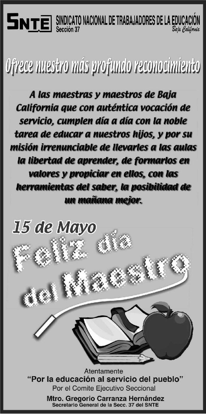 EN LA CEREMONIA DEL 15 DE MAYO EN LA RESIDENCIA OFICIAL DE LOS PINOS